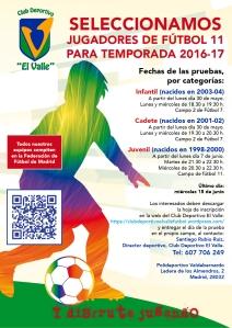 PRUEBAS DE NIVEL FUTBOL 11 - 2016